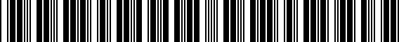 Barcode for 00A096304A015