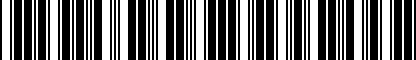 Barcode for 8R0071102