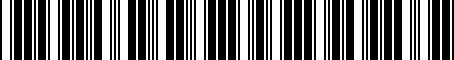 Barcode for 8R0071712F