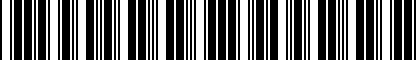 Barcode for 8V0071200