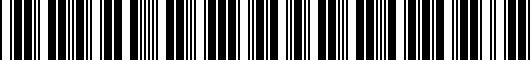 Barcode for ZAW071200DSP