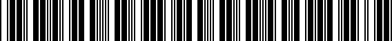 Barcode for ZAW071600NDSP