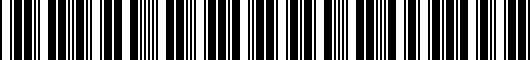 Barcode for ZAW072850DX9