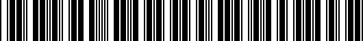 Barcode for ZAW098801DX9